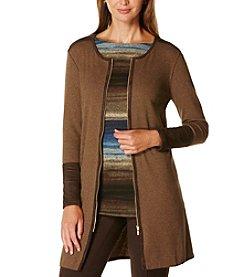 Rafaella® Petites' Zip Front Cardigan