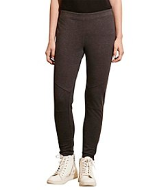 Lauren Active® Paneled Stretch Cotton Leggings