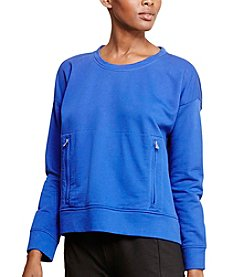 Lauren Active® Zip-Pocket Crewneck Sweatshirt