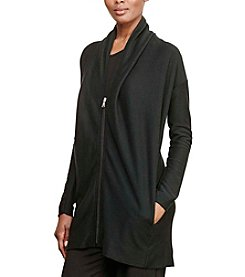 Lauren Active® Jacquard-Knit Cotton Cardigan
