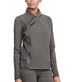 Lauren Active® Asymmetrical Zip Jersey Jacket