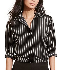 Lauren Ralph Lauren® Striped Crepe Shirt