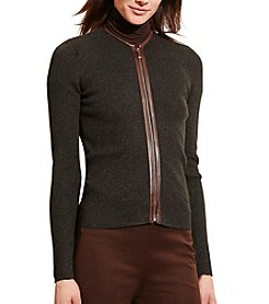 Lauren Ralph Lauren® Cotton Zip-Front Cardigan