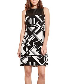 Lauren Ralph Lauren® Faux-Leather Yoke Dress