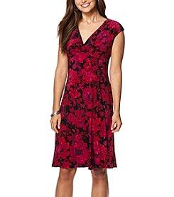 Chaps® Floral Surplice Dress