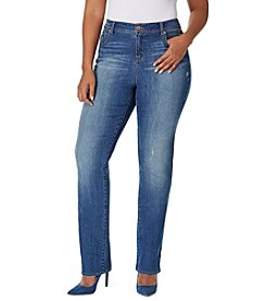 Bandolino® Plus Size Juliana Rail Straight Jeans