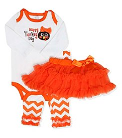 Baby Essentials® Baby Girls' 3-Piece Turkey Day Tutu Set