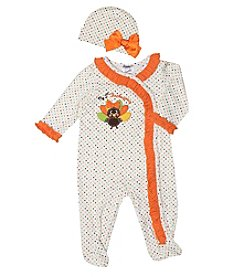 Baby Essentials® Baby Girls' First Thanksgiving Footie With Hat
