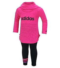 adidas® Baby Girls' Melange Hooded Set