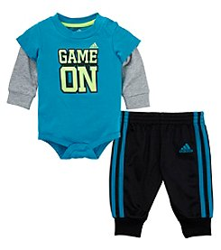 adidas® Baby Boys Game On Bodysuit Set