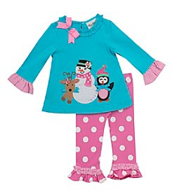 Rare Editions® Baby Girls' 2-Piece Snow Friends Tunic and Leggings Set