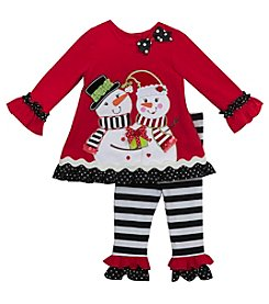 Rare Editions® Baby Girls' 2-Piece Snow-Couple Tunic And Leggings Set