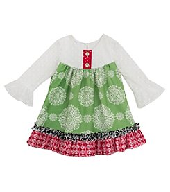 Rare Editions® Baby Girls' Boho Daisies Dress