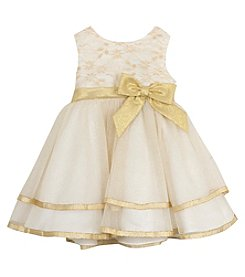 Rare Editions® Baby Girls' Shimmer Tiered Dress