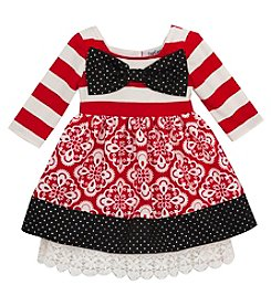 Rare Editions® Baby Girls' Striped Daisies Dress