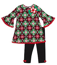 Rare Editions® Baby Girls' 2-Piece Daisies Tunic and Leggings Set