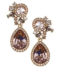 Givenchy® Vintage Pear Drop Earrings