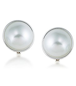 Lauren Ralph Lauren® Back To Basics Simulated Pearl Button Clip On Earring