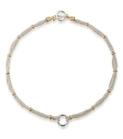 Lauren Ralph Lauren® Back To Basics Two Tone Chain And Ring Necklace