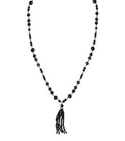 Lauren Ralph Lauren® Hide And Chic Beaded Tassel Necklace