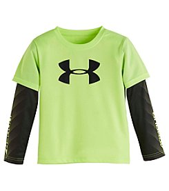 Under Armour® Baby Boys Layered Big Logo Power Slider Tee