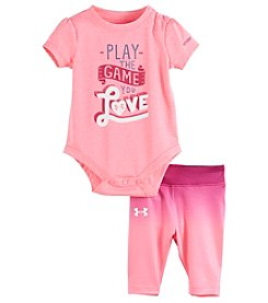 Under Armour® Baby Girls' 2-Piece Play The Game Bodysuit Set