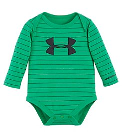 Under Armour® Baby Boys Striped Big Logo Bodysuit