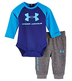 Under Armour® Baby Boys 2-Piece Core Bodysuit Set