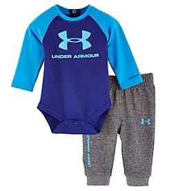 Under Armour® Baby Boys 2-Piece Core Bodysuit Set