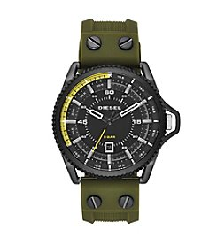 Diesel Green And Black Rollcage Watch