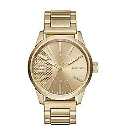 Diesel Goldtone Rasp Watch