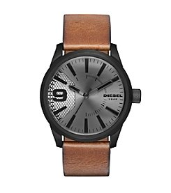 Diesel Gunmetal And Brown Rasp Watch