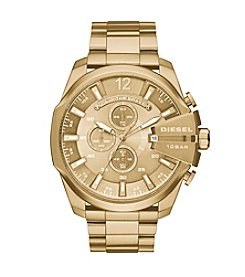Diesel Goldtone Mega Chief Watch