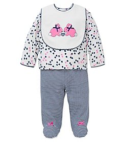 Little Me® Baby Girls' 3-Piece Bunny Bib Set