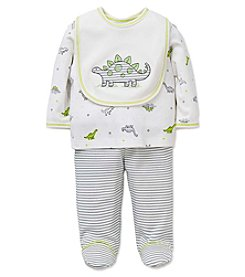 Little Me® Baby Boys 3-Piece Little Dinos Bib Set