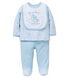 Little Me® Baby Boys 3-Piece Thank Heaven Bib Set