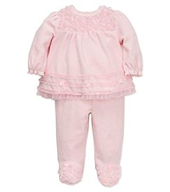 Little Me® Baby Girls' 2-Piece Rosette Velour Pants Set