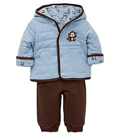 Little Me® Baby Boys' 2-Piece Monkey Reversible Jacket Set