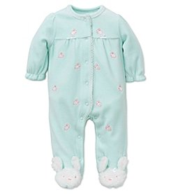 Little Me® Baby Girls' Bunny Schiffli Footie