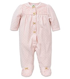 Little Me® Baby Girls' Shine Lace Footie