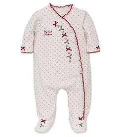 Little Me® Baby Girls' My First Christmas Holly Footie