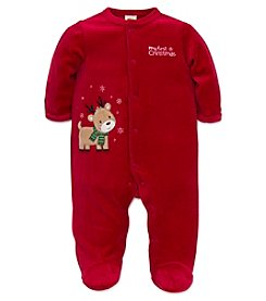 Little Me® Baby Boys' My First Christmas Reindeer Footie