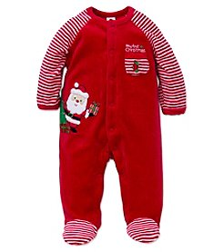 Little Me® Baby Boys' My First Christmas Santa Footie
