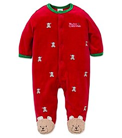Little Me® Baby Boys' My First Christmas Bears Footie