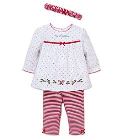 Little Me® Baby Girls' 3-Piece First Christmas Holly Set