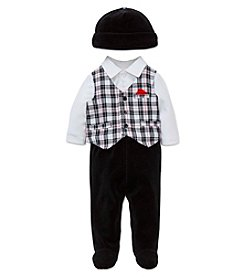 Little Me® Baby Boys 4-Piece Plaid Vest Set