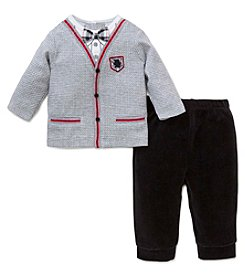 Little Me® Baby Boys' 2-Piece Bow Tie Cardigan Set