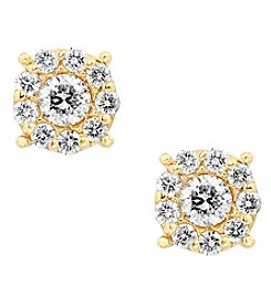 Effy® Bouquet Collection 1.0 Ct. T.W. Diamond Earrings In 14K Yellow Gold