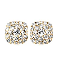 Effy® D'oro Collection 0.88 Ct. T.W. Diamond Earrings In 14K Yellow Gold