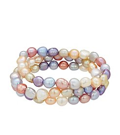 Honora Style® Multicolored Cultured Freshwater Pearl Bracelet